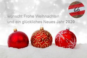 Das 66Traumtouren Team wünscht Frohe Weihnachten und ein glückliches Neues Jahr 2020!
