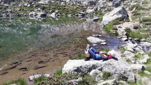 Bärbel entspannt am Wasser