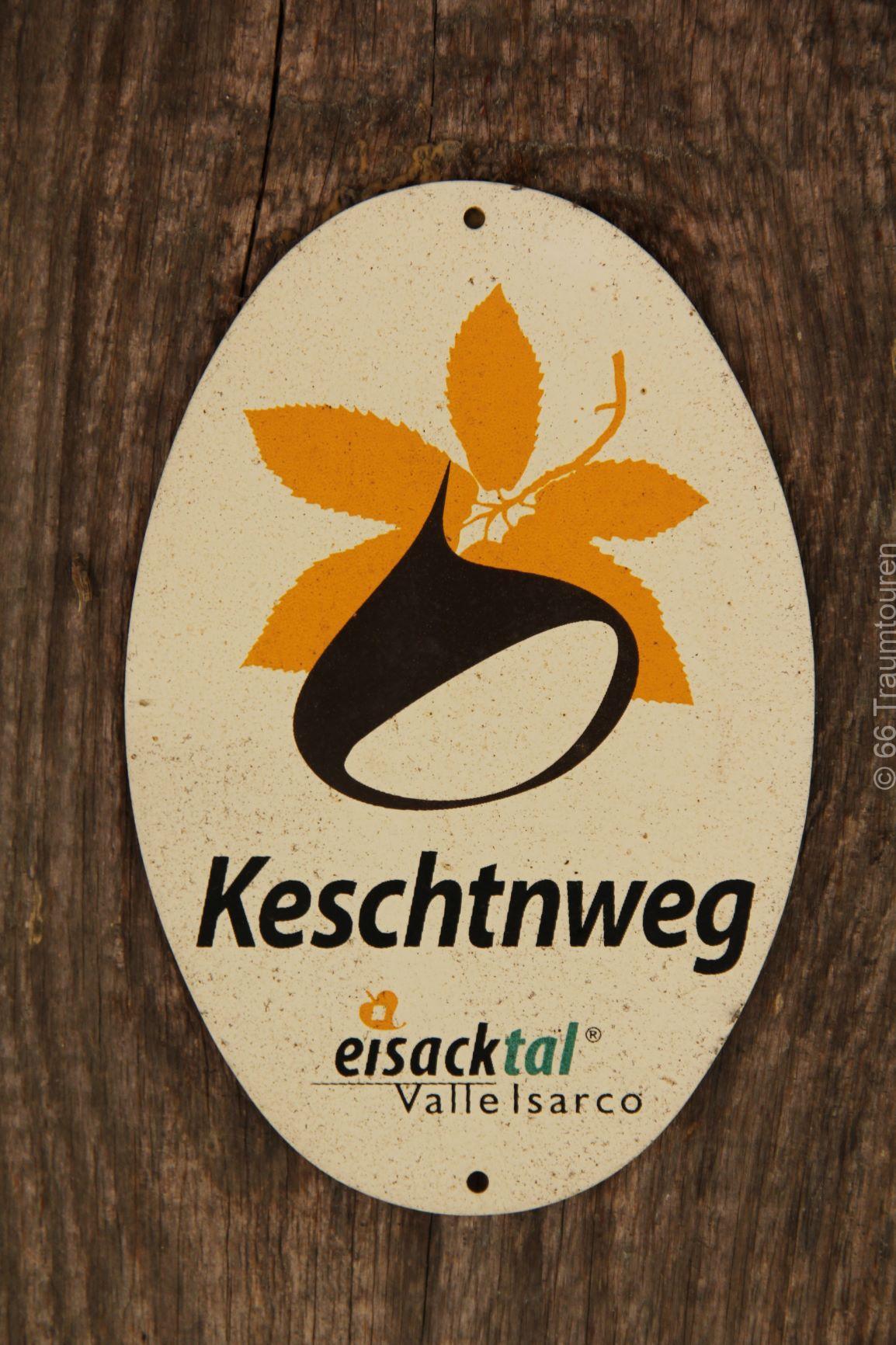 Eisacktaler_Keschtnweg_Schild